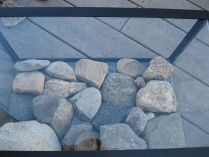 Rocks are in place